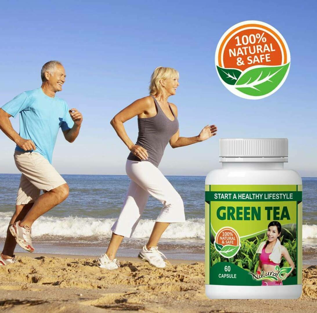 Natural Green Tea Herbal Capsules For Fat Burning & Improve Brain