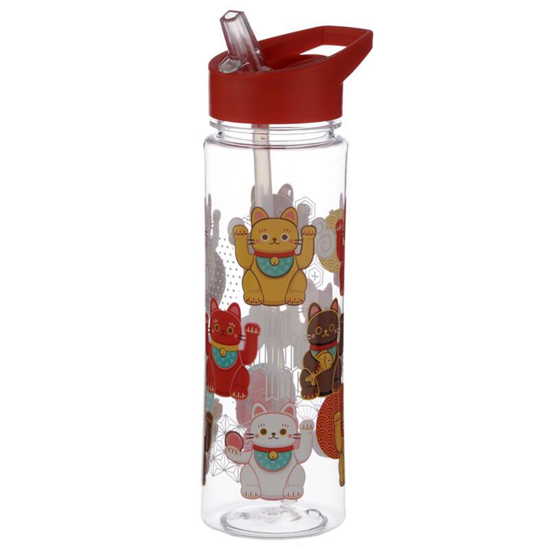 Lucky Cat Maneki Neko 550ml Reusable Water Bottle