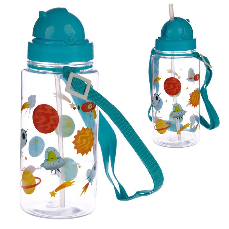Fun Space Design 450ml Childrens Water Bottle
