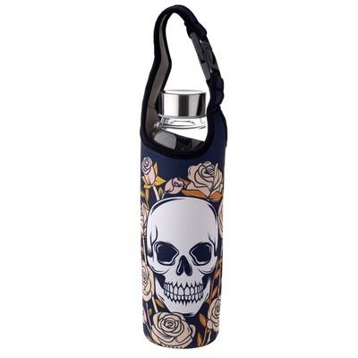 Reusable 500ml Glass Water Bottle with Protective Neoprene Sleeve -