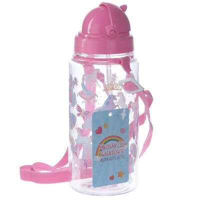Funky Unicorn Rainbow Design 450ml Chidlrens Water Bottle