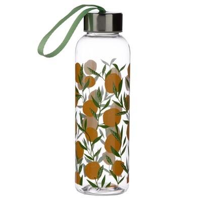 Oranges 500ml Reusable Water Bottle with Metallic Lid