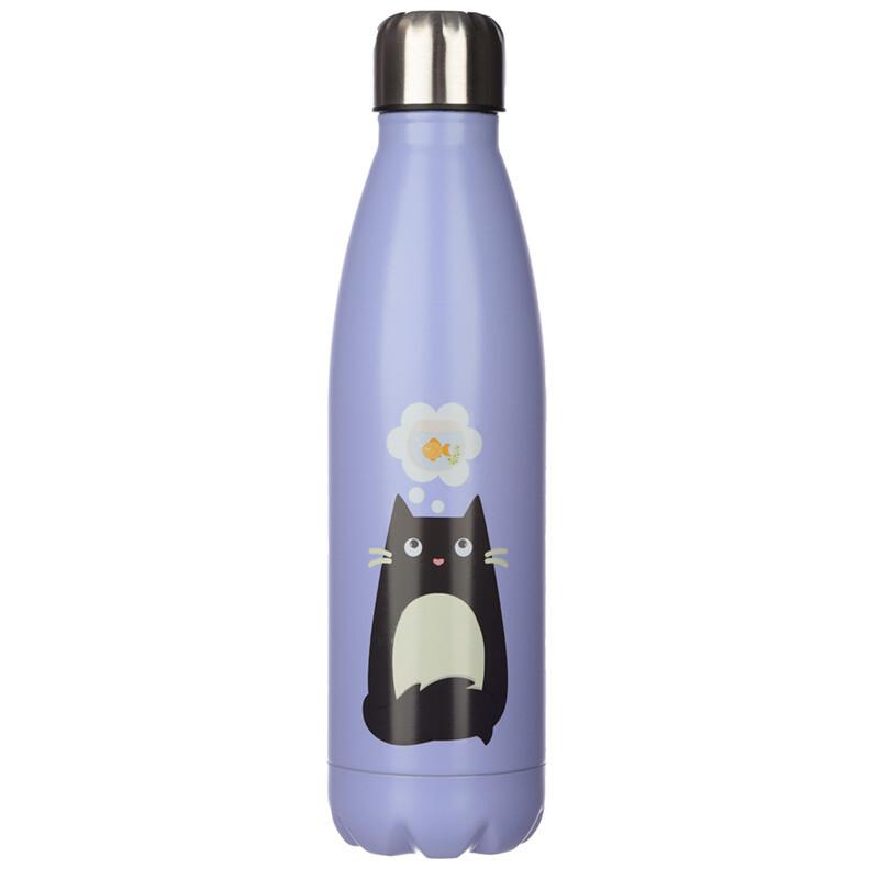 Feline Fine Cat Stainless Steel Insulated Drinks Bottle