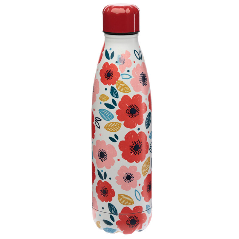 Poppy Fields Stainless Steel Insulated Drinks Bottle