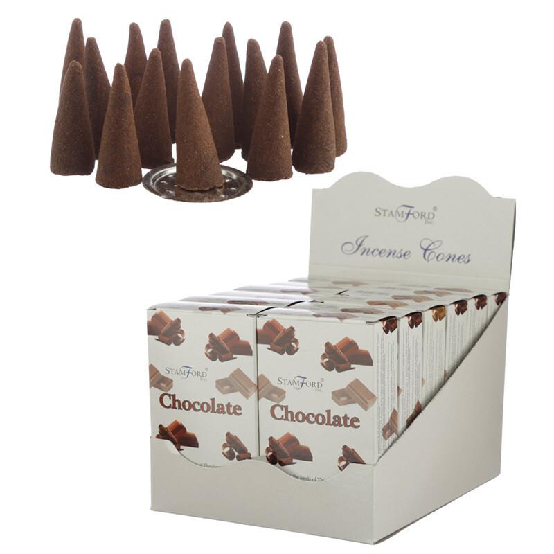 Stamford Hex Incense Cones - Chocolate