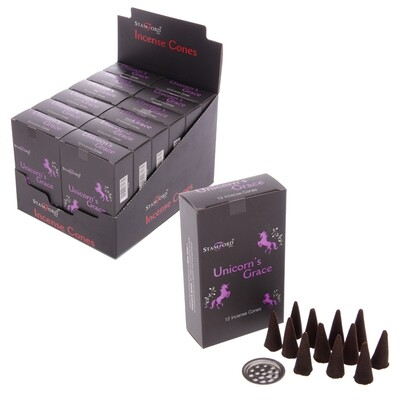 Stamford Black Incense Cones - Unicorns Grace