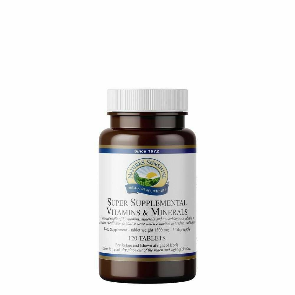Super Supplemental Vitamins and Minerals (120 Tablets)