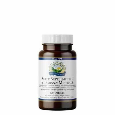 Super Supplemental Vitamins and Minerals (120 Tablets)