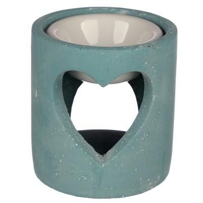 Blue Eden Concrete Industrial Style Heart Cut-Out Oil Burner