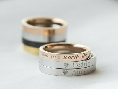 Couple Rings Personalized Couple Gift, Rose Gold Promise Ring, Purity