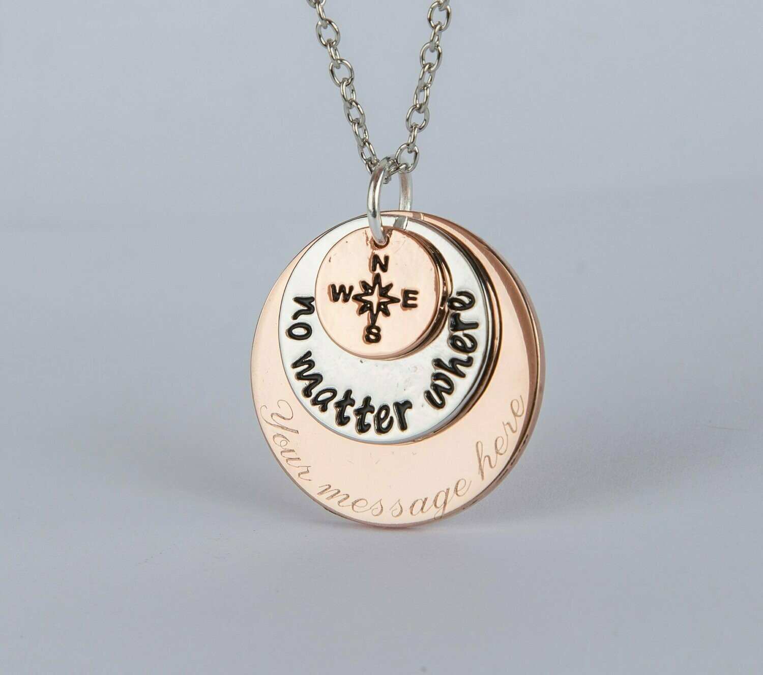 Long distance best friends gift necklace, personalized necklace