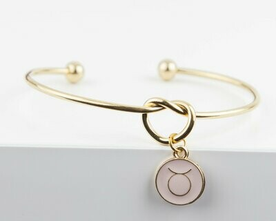 Dainty Knot Bracelet, Gold Plated Stainless Steel Wire Knot Bangle