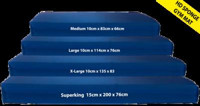 Gymnastics Gym Crash Landing Mat Royal Blue 10cm High Density Foam