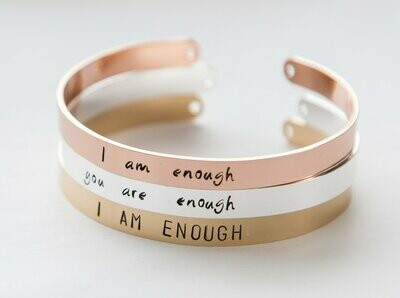 I am Enough bracelet, women empowerment gift, feminist gift,