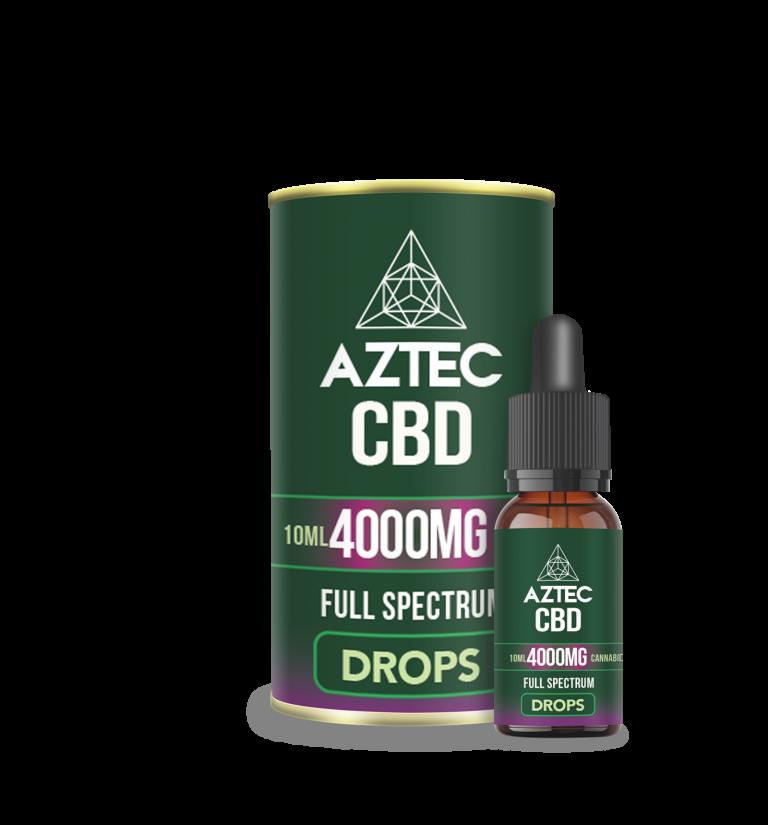 Aztec CBD Full Spectrum Hemp Oil 4000mg CBD 10ml   Spearmint