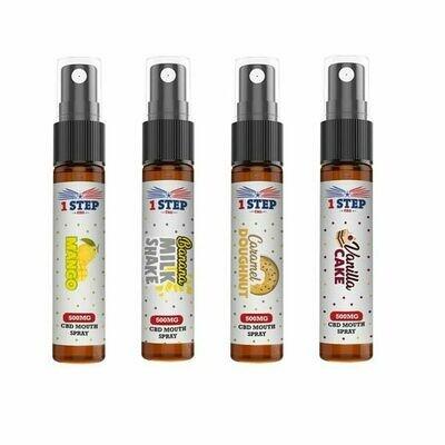 1 Step CBD 500mg CBD Mouth Spray 10ml  Banana Milkshake