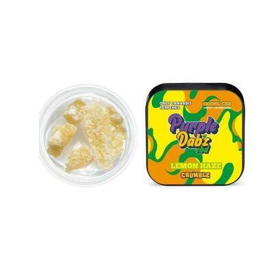 Purple Dabz by Purple Dank 1000mg CBD Crumble - Lemon Haze 1g
