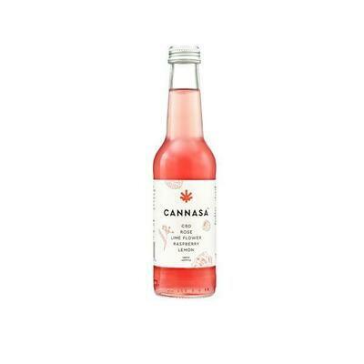 12 x Cannasa botanical 2.5mg CBD Infused Drink 275ml - Rose & Raspberry