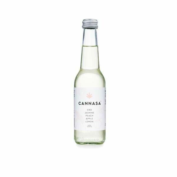 12 x Cannasa botanical 2.5mg CBD Infused Drink 275ml - Peach & Jasmine