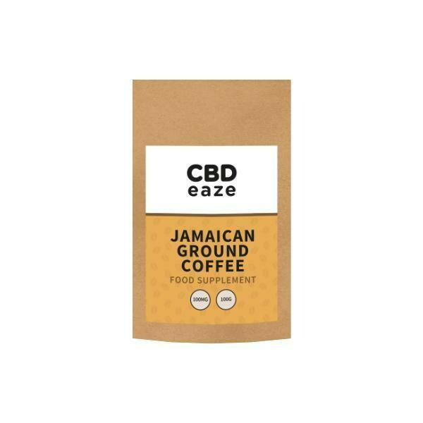 CBDeaze 100mg CBD Jamaican Ground Coffee - 100g