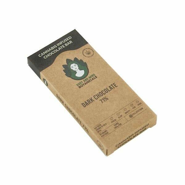 Body and Mind Botanicals 50mg CBD Cannabis Mint Dark Chocolate