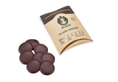 Body and Mind Botanicals 25mg CBD Cannabis Chocolate Buttons  Dark Chocolate