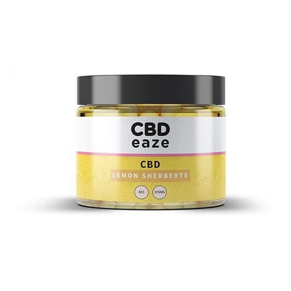 CBDeaze 375mg CBD Lemon Sherbets