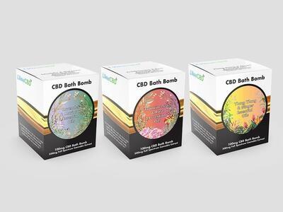 LVWell CBD 500mg CBD Bath Bomb - Lemongrass and Mandarin - Fresh