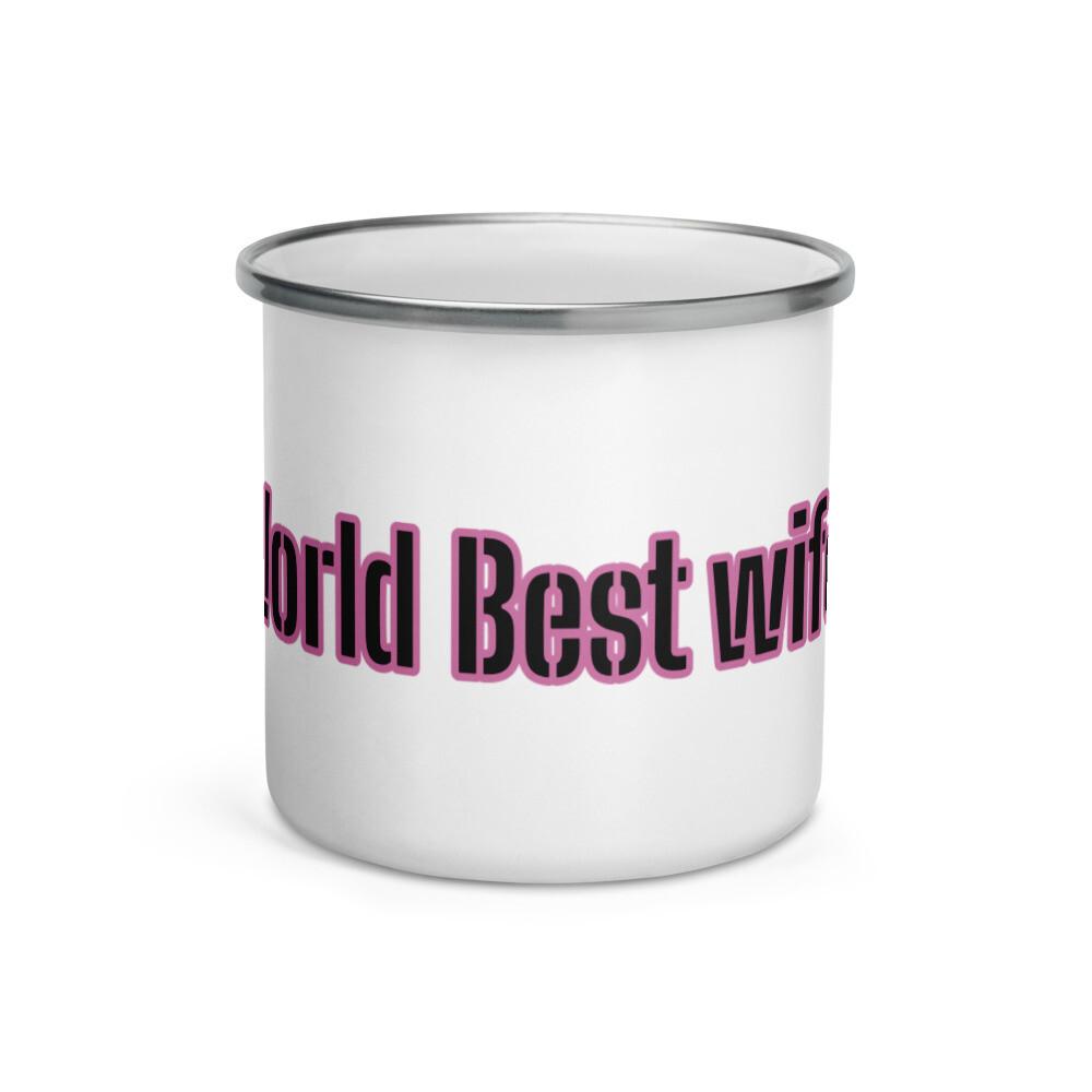 Worlds Best Wife Enamel Mug