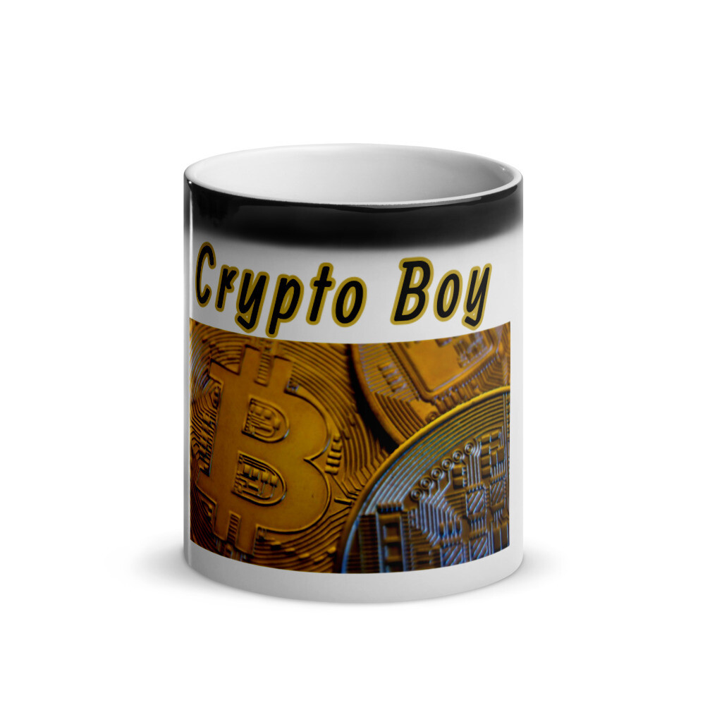 Crypto Boy Glossy Mug
