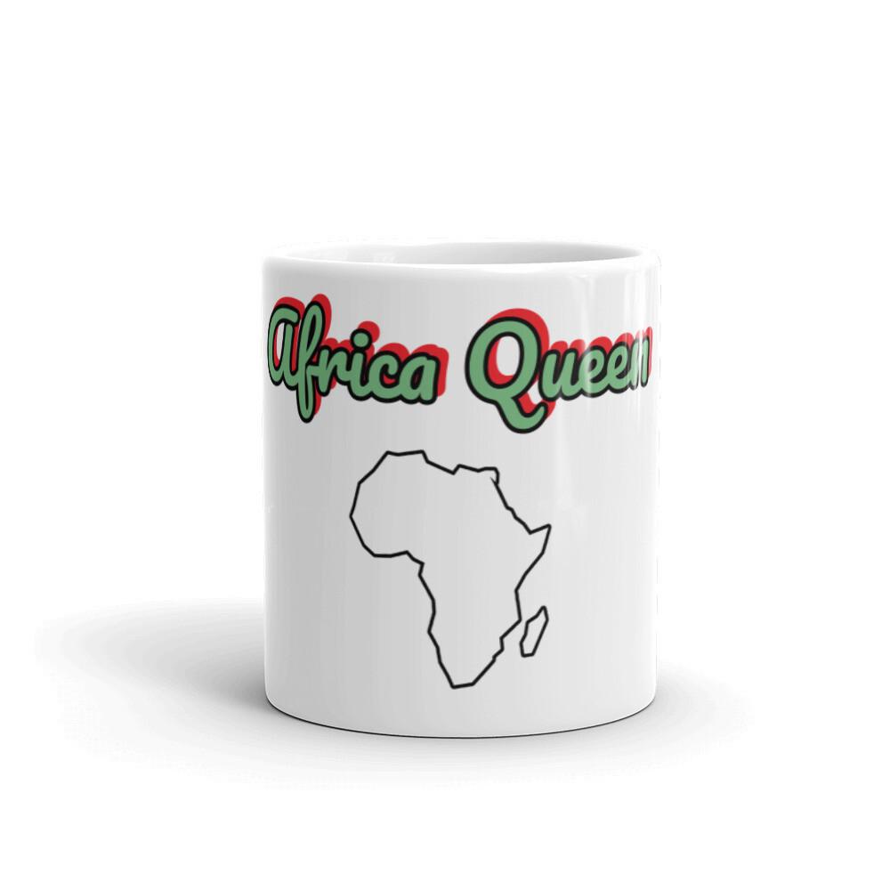 Africa Queen White glossy mug