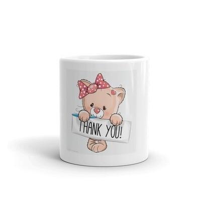 Thank you bear mug