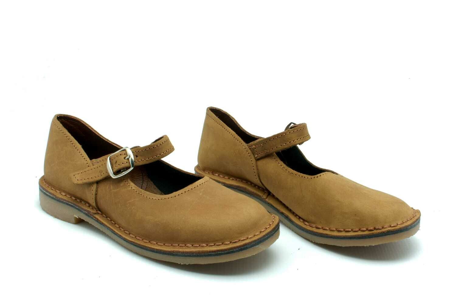 Mary Jane Vellies (Tan)