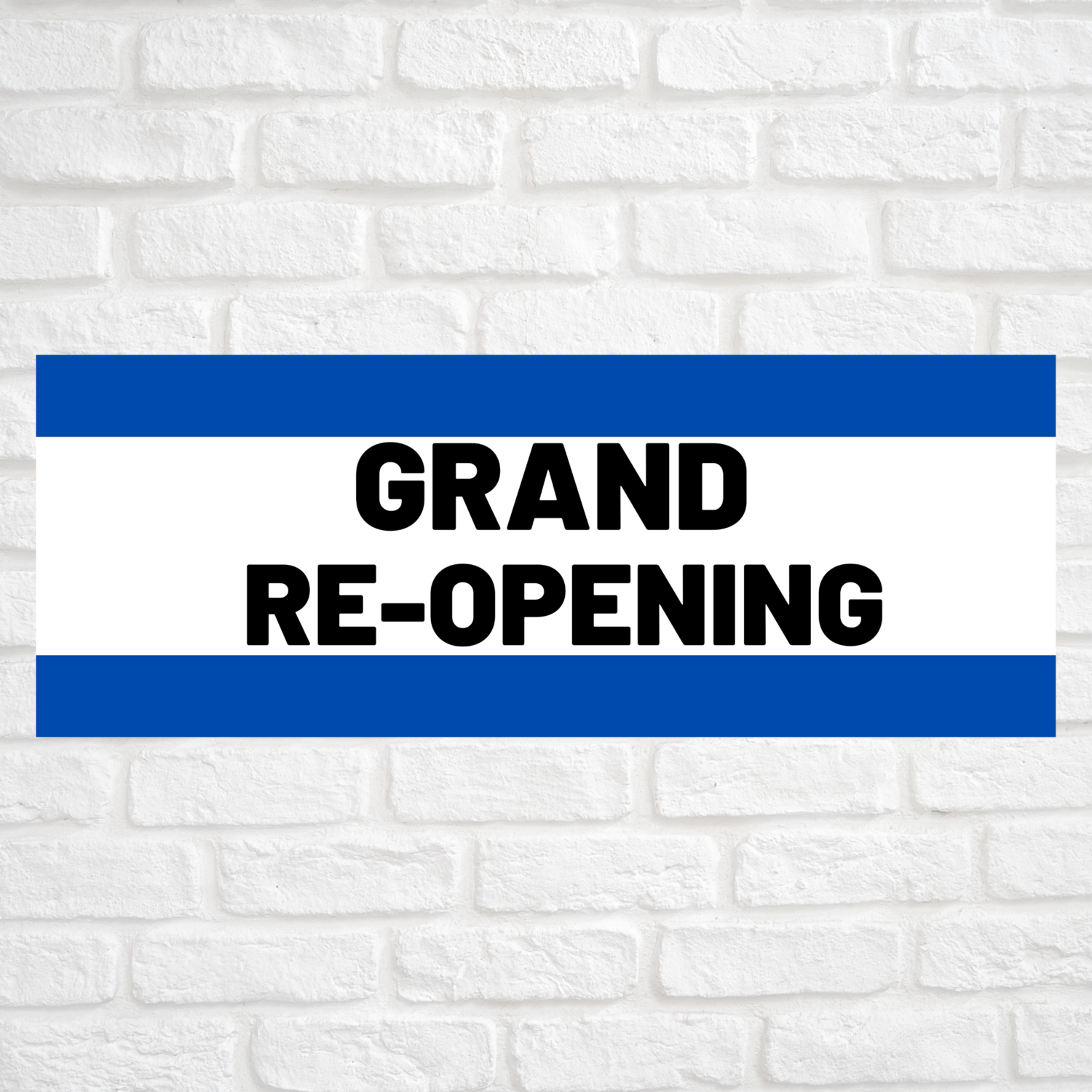 Grand Re-Opening Blue/Blue