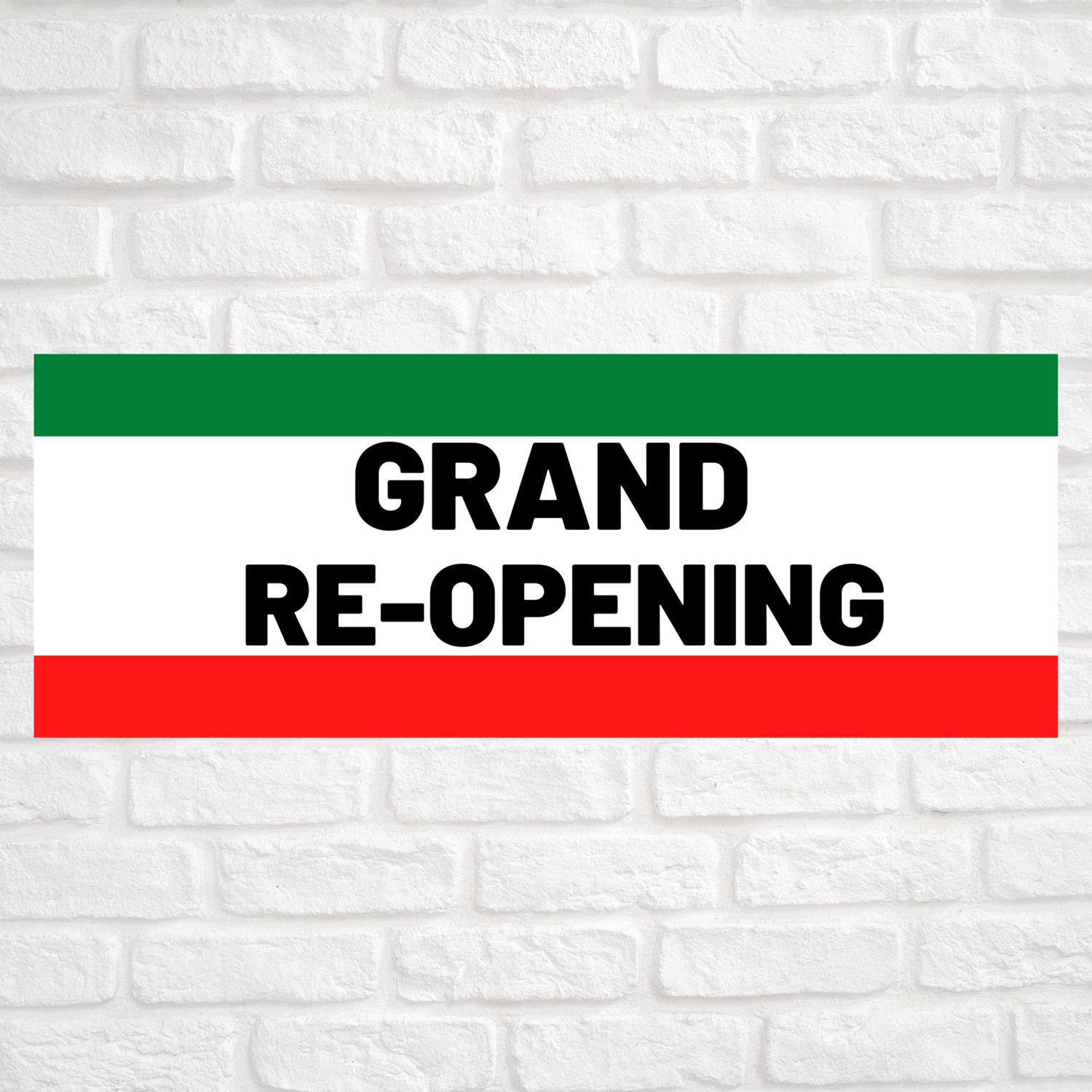 Grand Re-Opening Green/Red