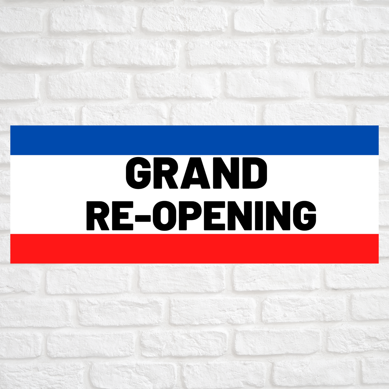 Grand Re-Opening Blue/Red