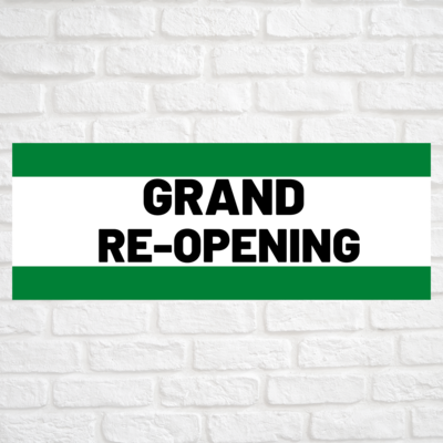 Grand Re-Opening Green/Green