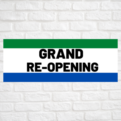 Grand Re-Opening Green/Blue