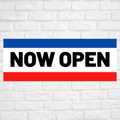 Now Open Blue/Red