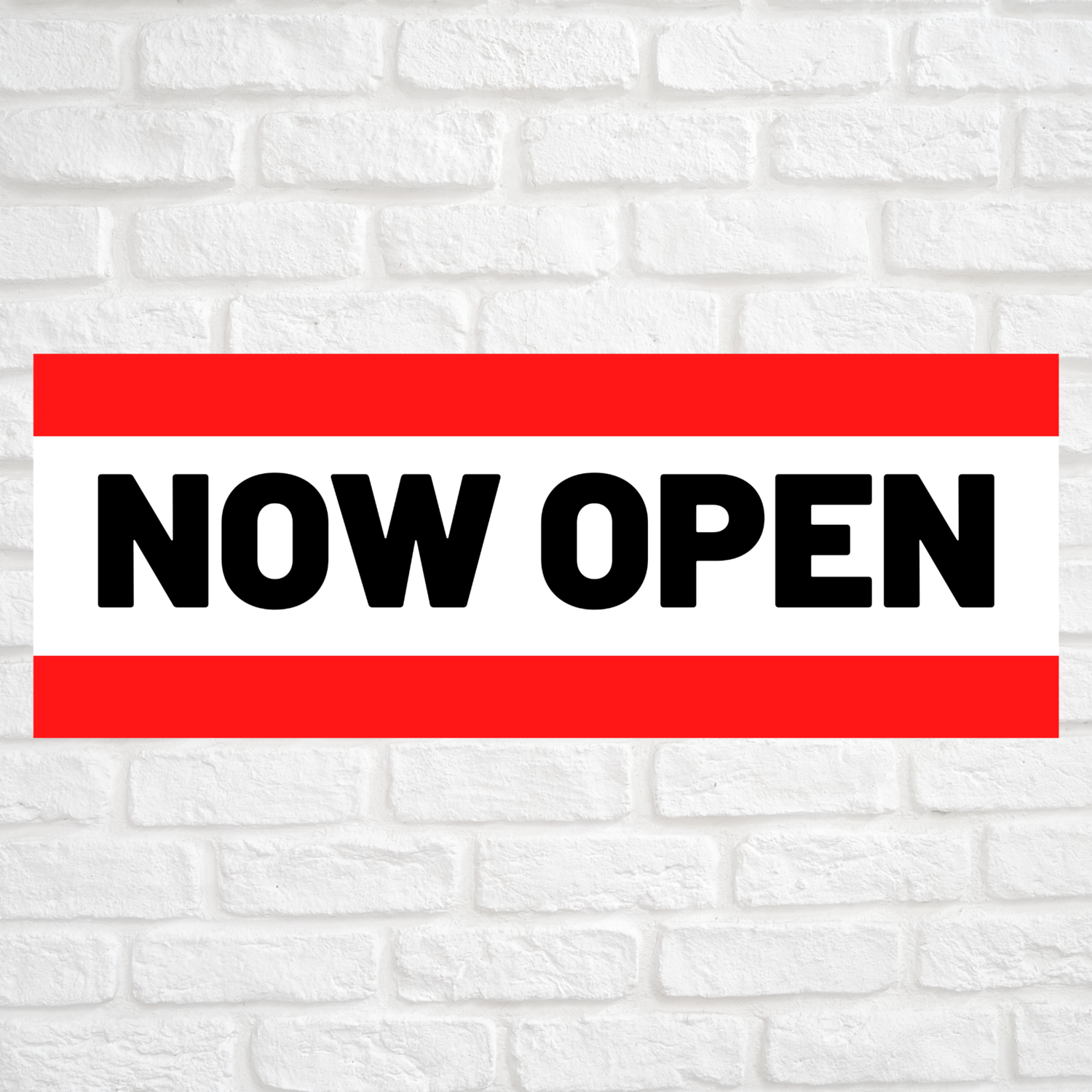 Now Open Red/Red