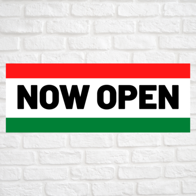 Now Open Red/Green