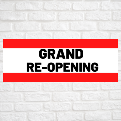 Grand Re-Opening Red/Red