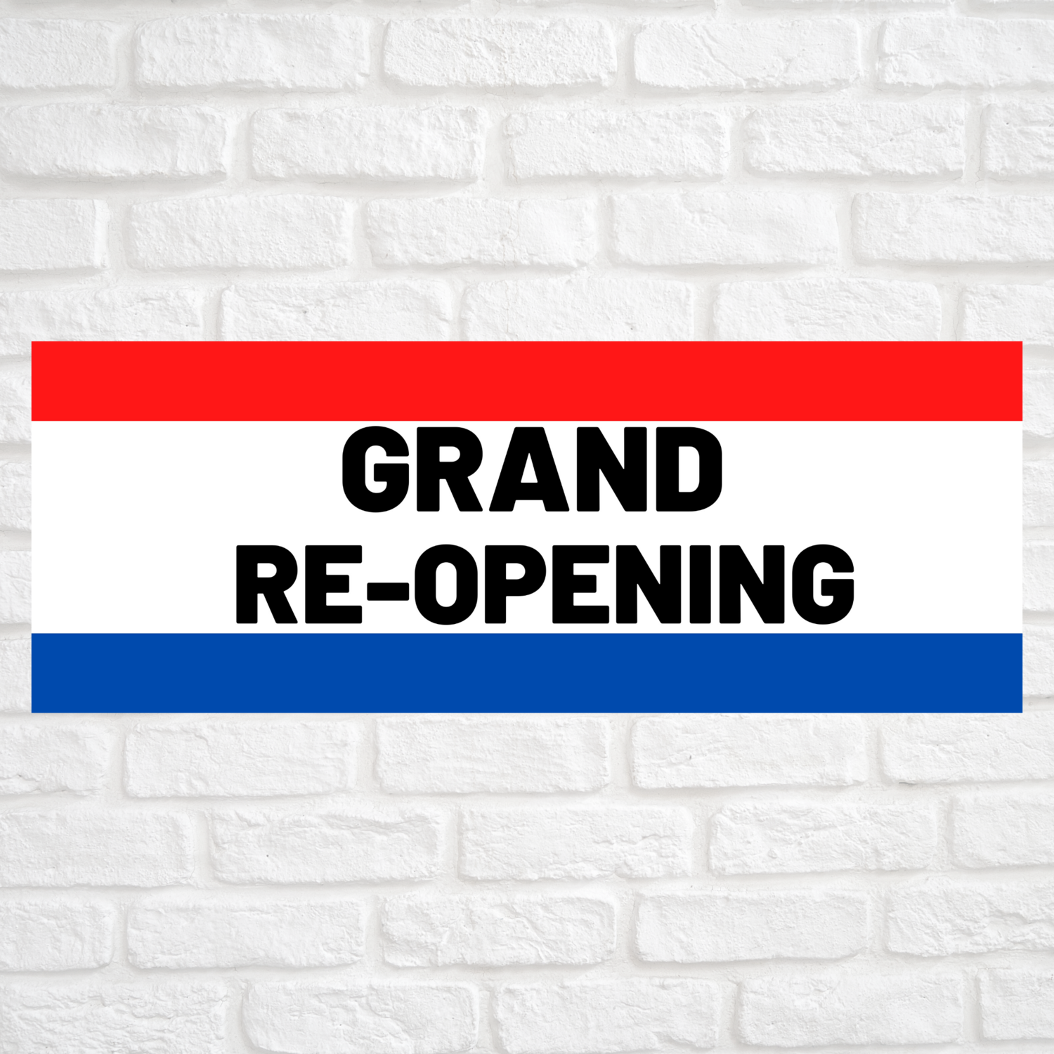 Grand Re-Opening Red/Blue