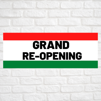 Grand Re-Opening Red/Green