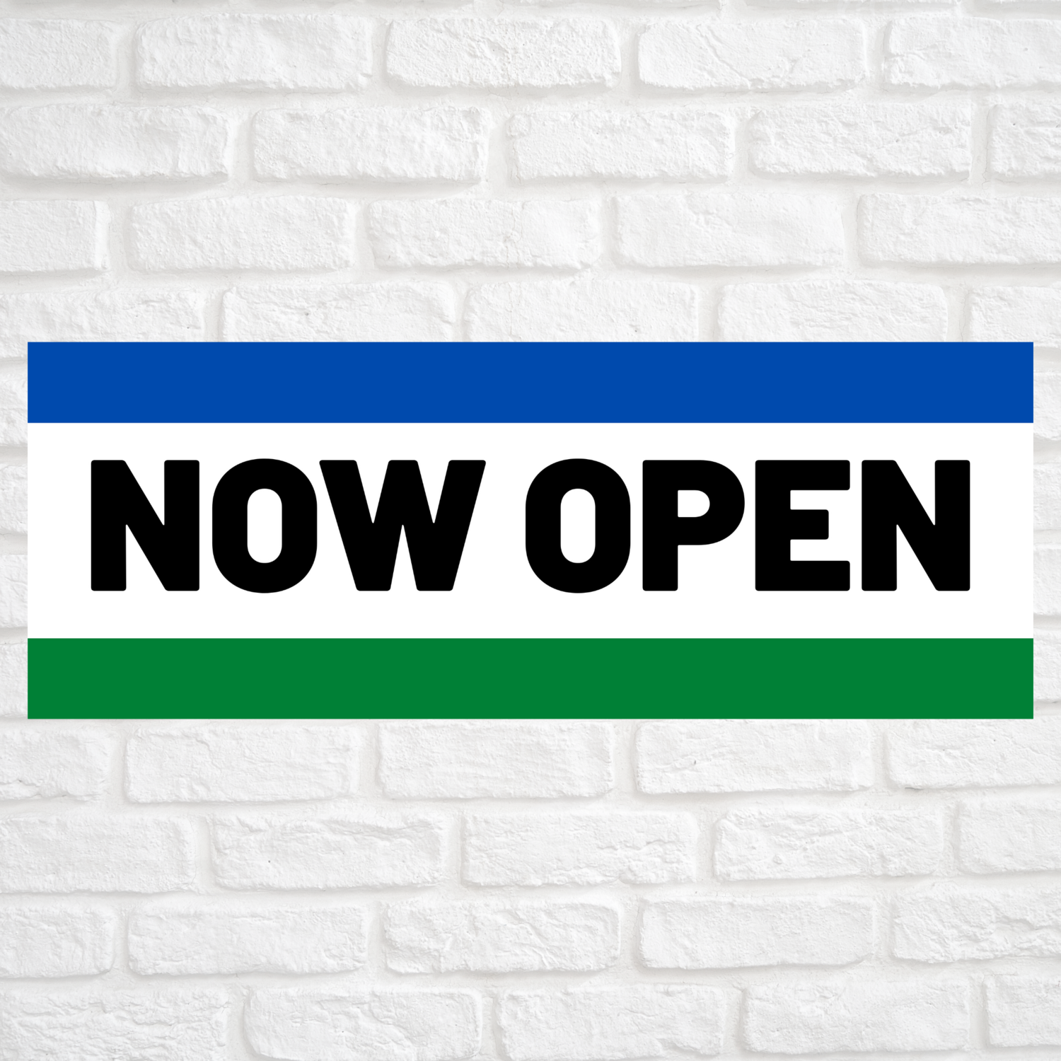 Now Open Blue/Green