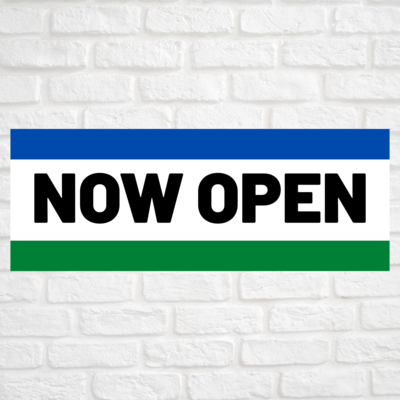 Now Open Blue/Green