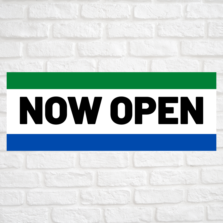 Now Open Green/Blue