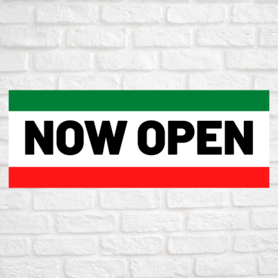 Now Open Green/Red