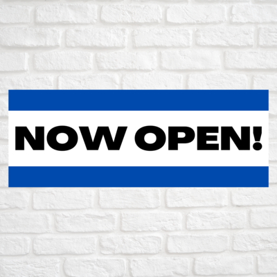 Now Open! Blue/Blue