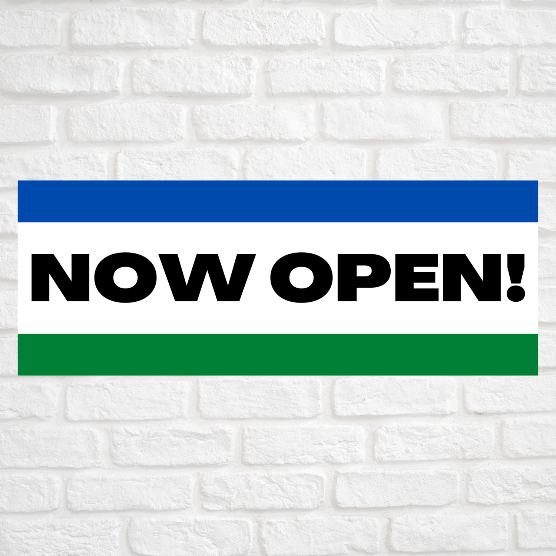 Now Open! Blue/Green